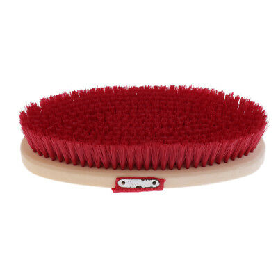 Durable Soft Horse Body Brush Horse Pony Equine Grooming Equipment Red