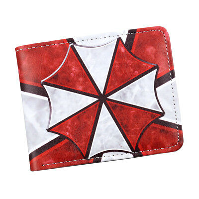 Game Resident Evil Men Bi-fold Wallet Red Umbrella Biohazard Short Purses