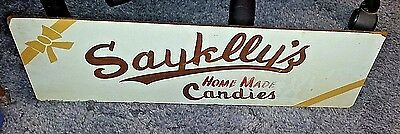 Vintage Sayklly's Home Made Candies Wooden Sign