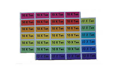 [10xten] name labels school childcare lunchbox label waterproof label stickers