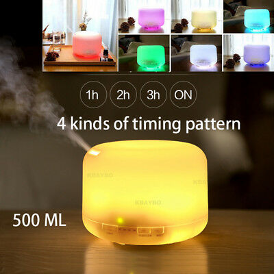 500Ml 7LED Humidifier Aroma Essential Oil Diffuser Aromatherapy Remote Control