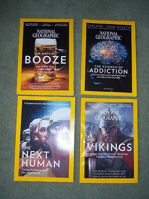National Geographic Magazines 2017 4 issues