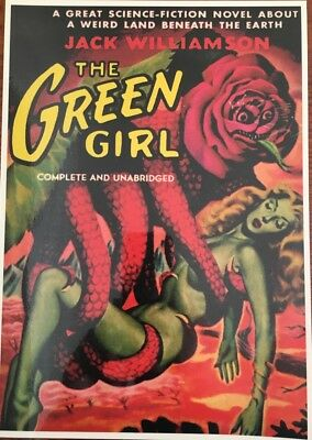"The Green Girl - Book Cover as Art Mini Laminated Poster 11""x 8"" (28cm x 20cm)"