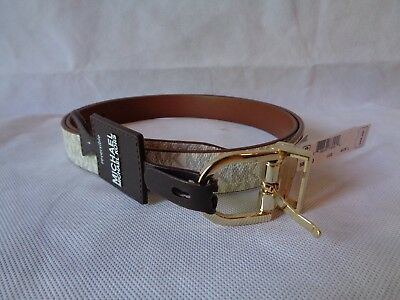 Michael Kors Women's Reversible Logo Belt Size Large NWT