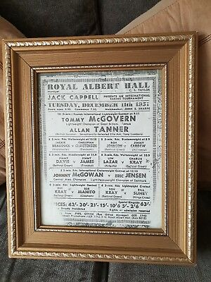 FRAMED BOXING POSTER For Royal Albert Hall Tuesday 11th December ...