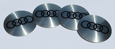 56MM AUDI CENTER CAP EMBLEMS STICKERS DECALS Replacement Fits Factory Wheels