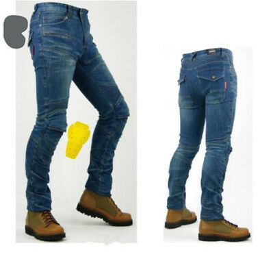 Mens Motorcycle Jeans Motorbike Pants Denim Trousers Pads Armour protection
