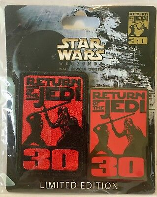 2013 Disney Star Wars Weekends Pin + Patch Return of the Jedi 30th LE Only 2,000