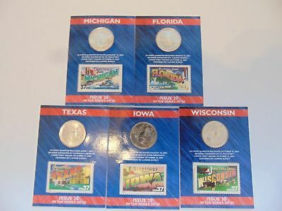 50 State Quarters, Greetings from America Cards Issue 26--30in the Series of 50