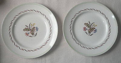 2 x Royal Doulton 'Woodland' large dinner plates 10.5 ins