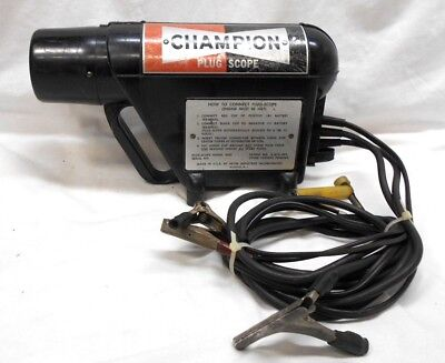 Vintage Champion Engine Spark Plug Scope Analyzer