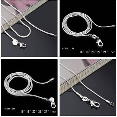 """1pcs 16""""~38"""" Stainless Steel Silver Plated Copper Curb Link Snake Chain Necklace"""
