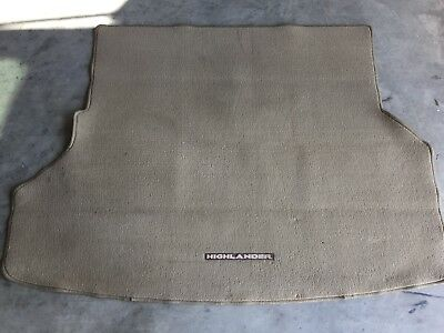 09 10 11 12 13 Toyota Highlander Rear Trunk Floor Carpet Cargo Liner Mat Oem