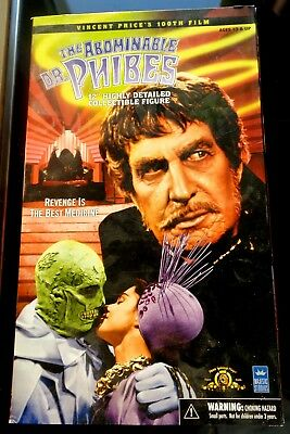 """The Abominable DR. PHIBES 12"""" 1/6 Figure VINCENT PRICE Majestic Studios NEW MINT"""