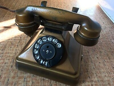 Original Siemens Brothers 310 Very Rare Lacquered Gold Telephone