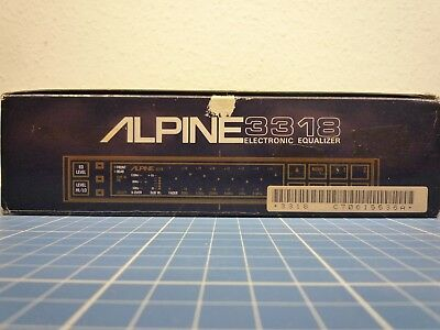 An alle Countach Fahrer: Alpine 3318 Electronic Equalizer, wie neu in OVP