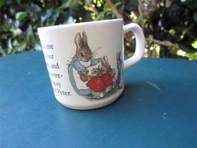 Wedgwood Beatrix Potter PETER RABBIT Child's Cup/Mug (Once Upon a Time…)