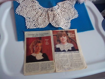 Girls / or Ladies Crocheted Collar [ With Pineapple Pattern ] Homemade Crocheted