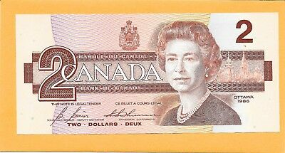 1986 Canadian 2 Dollar Bill Egr8977269 Very Nice Crisp  (Unc)