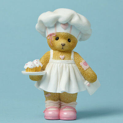 Cherished Teddies*BEAR with VALENTINE CUPCAKES*New*BREANA*Bake Something*4044686