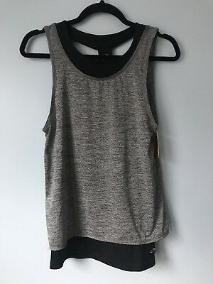 8ea62ab45882c Champion Black Gray Grey Duo Dry Double Layer Athletic Tank Top Size XS  Yoga Run