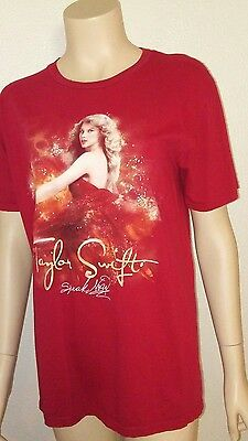 Taylor Swift Speak Now Red 2011 Concert Tour Tee Shirt Medium