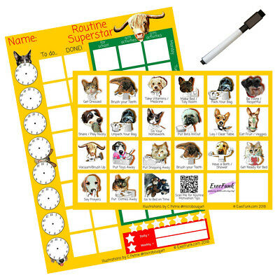 Fully Magnetic A4 Magnetic Reward Chart and Weekly Planner