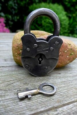 Antique Padlock With One Working Key Unique Made in Russia Collector Rare 27-12