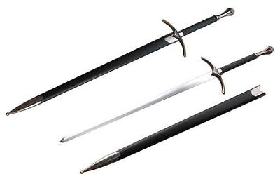 """42"""" Medieval Chivalry Crusader Knight Sword With Black Scabbard Brand New"""
