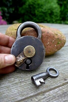 Antique Padlock with one key F.Sengpiel working order Made in Germany 27-15