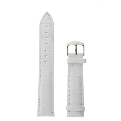 Vintage White High Quality Men Ladies Genuine Soft Leather Watch Band Strap Hook