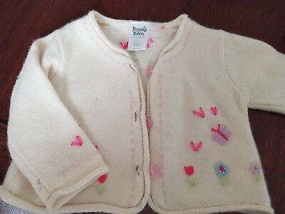 Pumpkin Patch Embroidered Baby Girls Cardigan Size 0