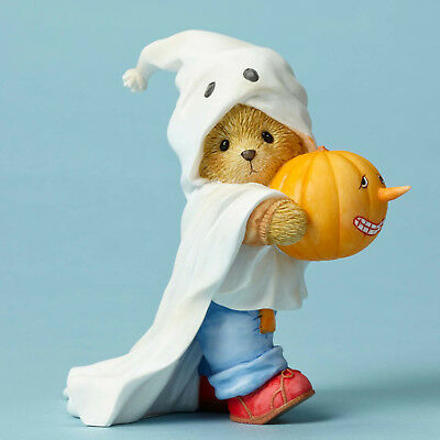 Cherished Teddies*BEAR DRESSED as GHOST*New*GARETH*Share Boo-tiful Smile*4053444