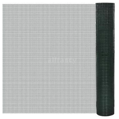 Netting 1x25m PVC-coated and Galvanised Mesh Size 19x19mm Z8V8