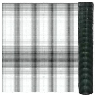Netting 1x25 m PVC-coated and Galvanised Mesh Size 16x16mm X4S8