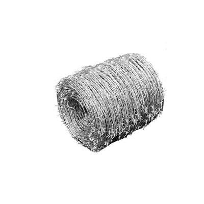 Barbed Wire 500 m Roll Coils 1.6mm Diameter Galvanised Steel Garden Fence M1O9