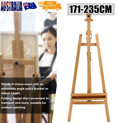 235CM New Pro Heavy Duty Foldable Wooden Tripod Easel Artist Art Painting Stand