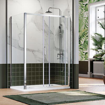 Sliding Door Shower Enclosure Side Panel and Tray &Waste Safety Steady Cubicle