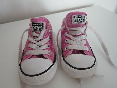 169ad13fa0c6 Converse All Star Ox Glitter Pink Infant Size 6   22 Toddler Girls Trainers