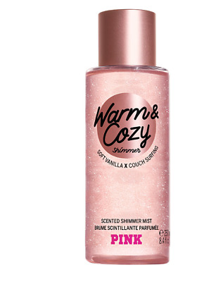 ❤ PINK VICTORIA'S SECRET NEW! Warm and Cosy Shimmer Fragrance Body Mist 250 ml ❤