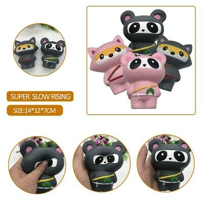 Slow Rising Large Squishy Ninja Panda Fox Squeeze Toy Home Sofa Bed Soft Dolls