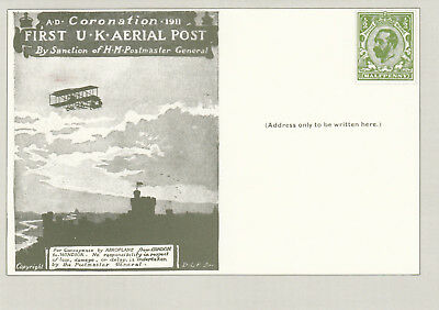 (14288) GB Postcard FDC NPM SS/5 1st Aerial Post 30 September 1981