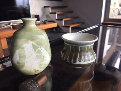 Vintage Aviemore Pottery Small Vase and Bowl