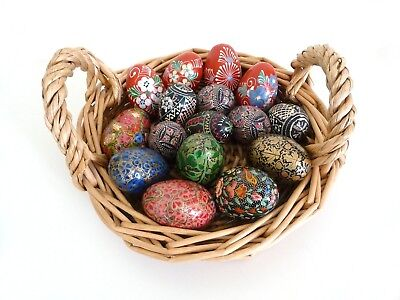 Large Assortment / Collection of 16 Beautiful Decorated Eggs