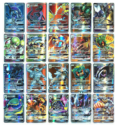 20Pcs Pokemon Cards Game Trading Flash GX Card No Repeat Rare Toy Christmas Gift