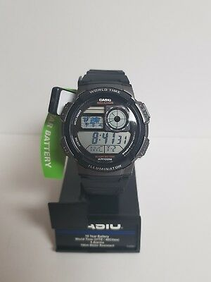 Casio Men's AE1000W-1BVCF SILVER/BLACK  Digital Sport Watch NEW WITH TAGS