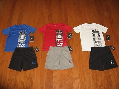 Air Jordan  2 Piece T-Shirt & Shorts Outfit Set  Boys Size  4 / 5 / 6 / 7 NWT
