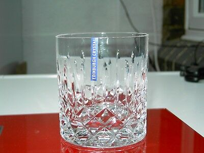 Large EDINBURGH Crystal - APPIN Cut - Whisky Tumbler Glass / Glasses - 3 1/2""