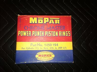 Vintage NOS Mopar Plymouth Dodge Power Punch Piston Rings 1450124