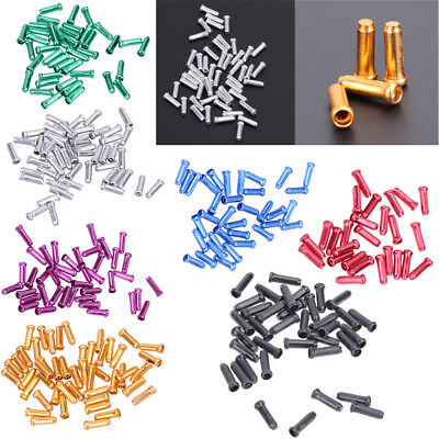 50pcs Bike Bicycle Cycling Brake Shifter Inner Cable Tips Wire End Cap Crimps